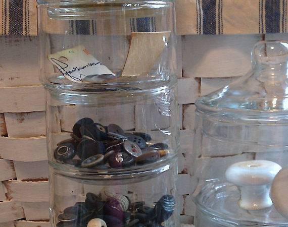Five Stackable Apothecary Jars