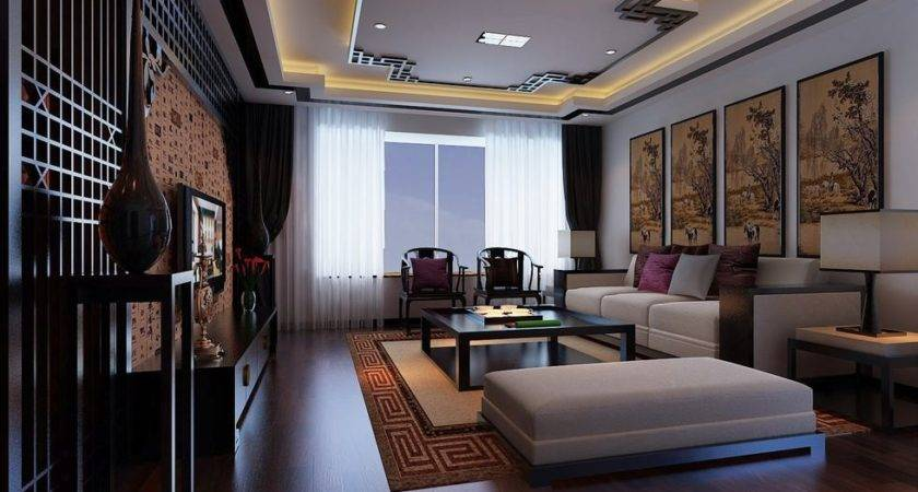 Flat Screen Chinese Feature Wall Modular Lounge Interior