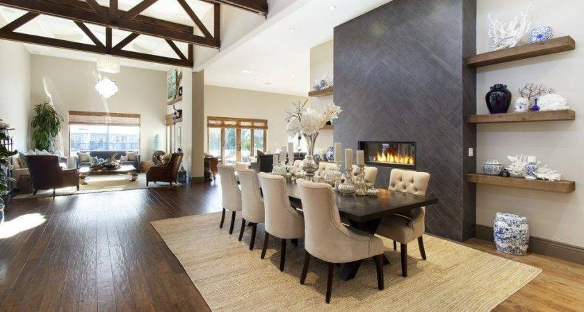 Floating Shelves Dining Room Contemporary