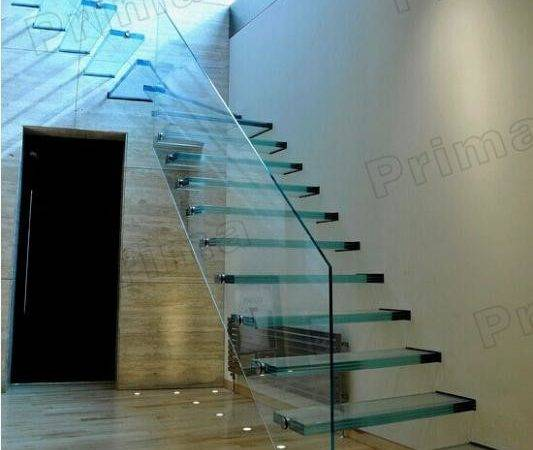 Floating Strong Glass Treads Staircase