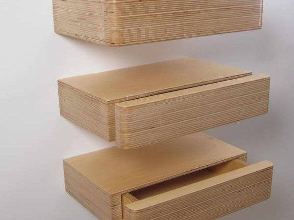 Floating Wall Shelves Drawer