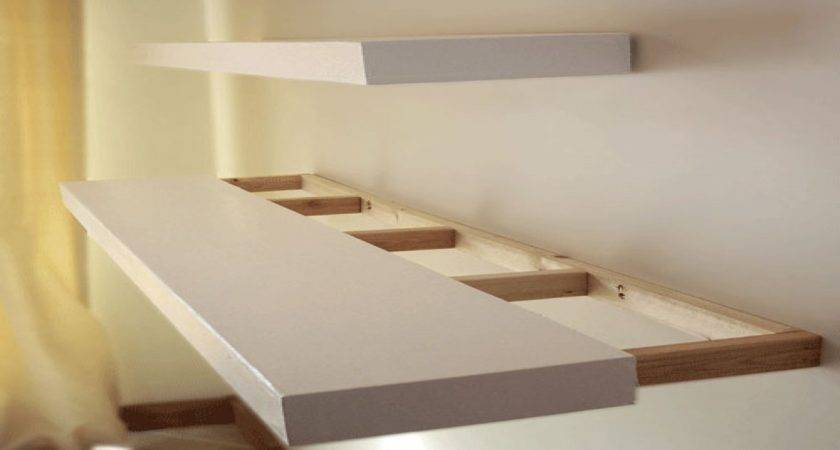 Floating Wall Shelves Plans Mounted