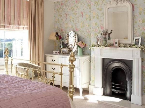 Floral Bedroom Ideas Fireplaces