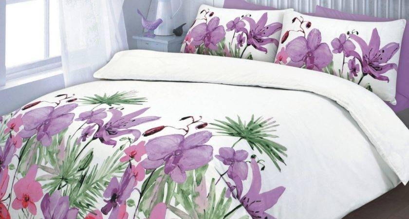 Floral Quilt Duvet Cover Pillowcase Teal Pink Lilac