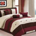 Floral Scroll Embroidery Pleated Comforter Set