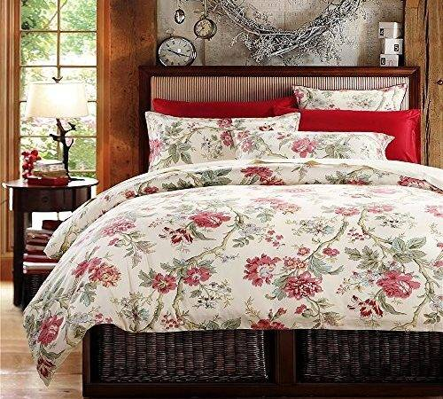 French Country Garden Toile Floral Printed Duvet Quilt