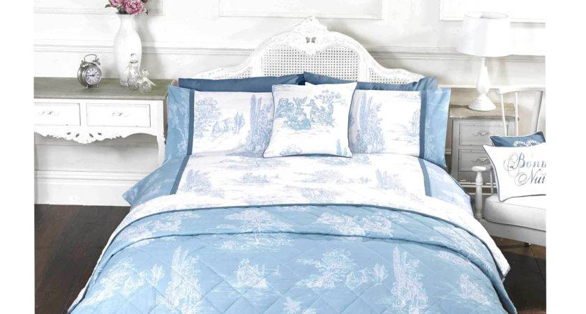 French Country Inspired Toile Jouy Duvet Cover Set