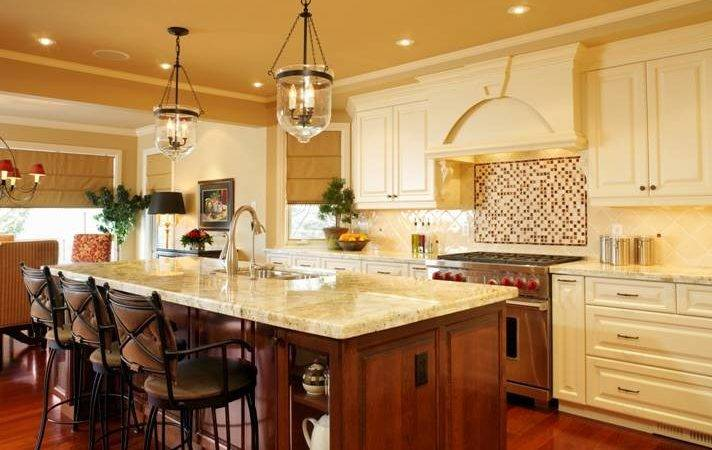 French Country Kitchen Island Lighting Interior