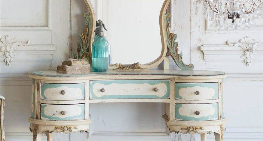 French Country Style Vintage Vanity Kathy Kuo Home
