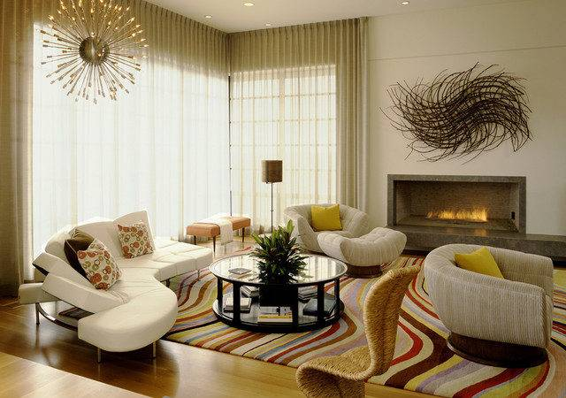 French Haven Contemporary Living Room Orange County