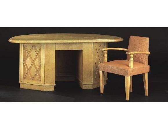 French Modern Neoclassical Desk Attributed Jean Charles