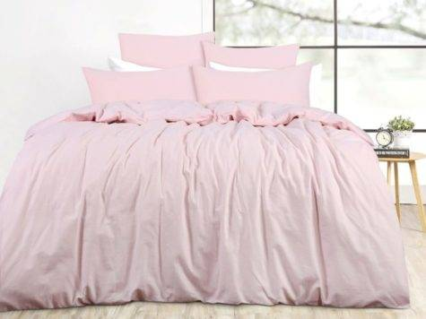 French Provincial Pink Linen Queen Bed Doona Duvet Quilt
