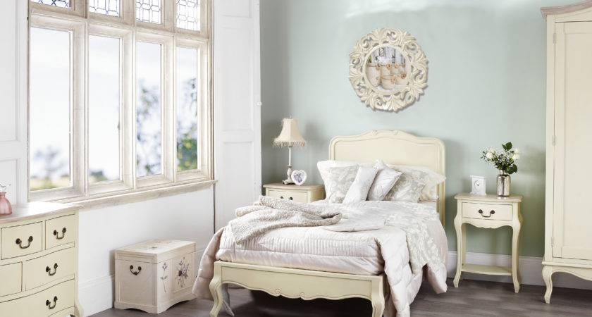 French Style Cream Painted Chest Five Drawers Bedroom