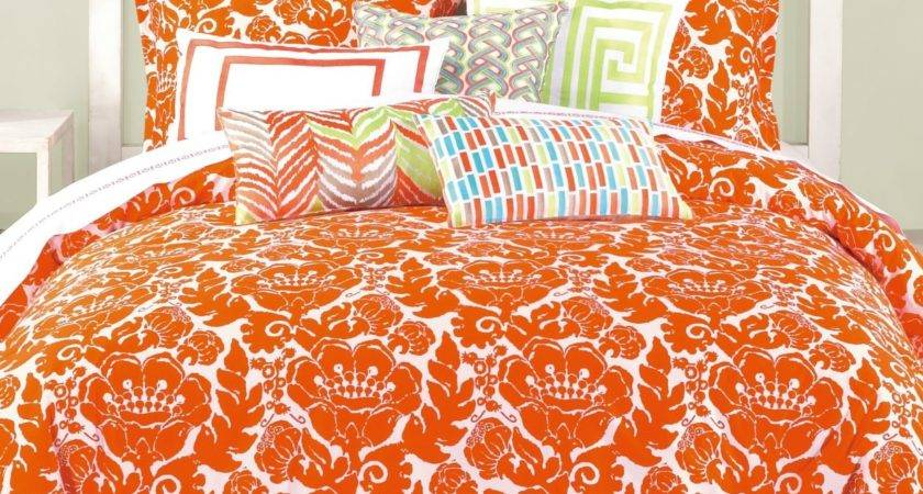 Fun Bright Orange Comforters Bedding Sets