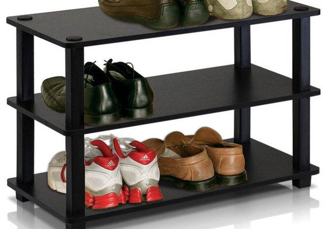 Furinno Turn Tube Tier Shoe Rack Contemporary