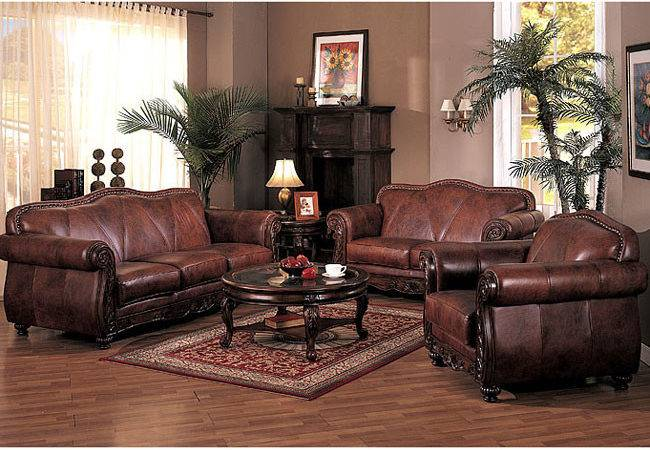 Furniture Adding Luxury Leather Living Room