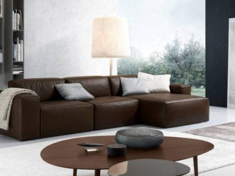 Furniture Best Choice Brown Leather Sectional