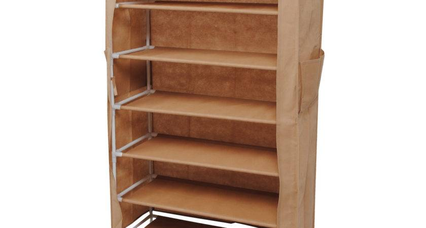 Furniture Extra Tall Wooden Shoe Rack Cabinet