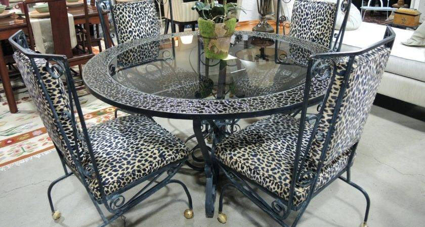 Furniture Leopard Dining Room Chair Covers Print Chairs