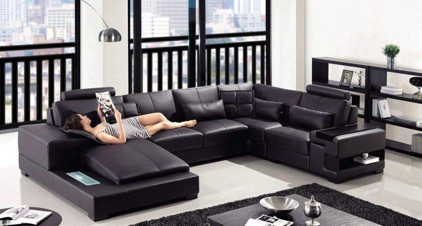 Furniture Modern Leather Sofa Ideas Excellent Living