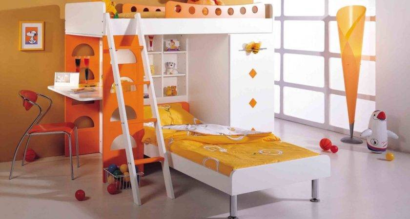 Furniture Modern Small Cool Bunk Bed Ideas Yellow