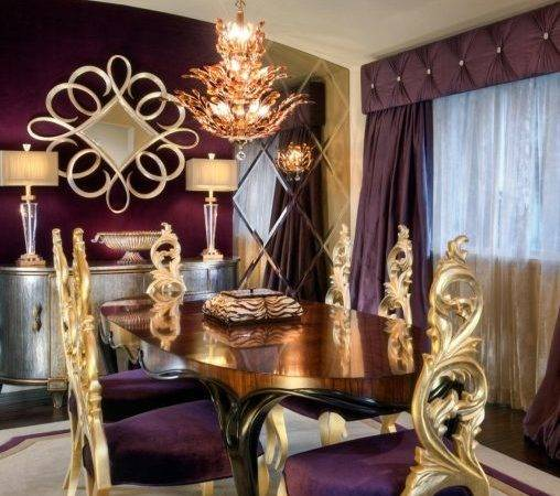 Furniture Purple Dining Room Designs Decorating Ideas