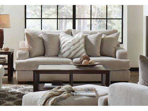 Gabrielle Living Room Sofa Loveseat Cream
