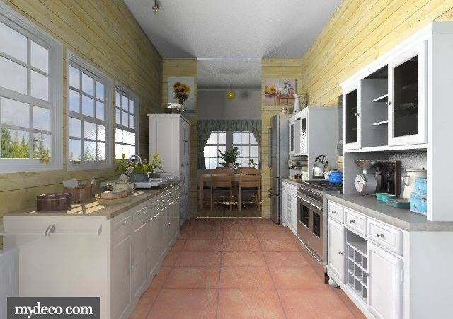 Galley Country Kitchen Cottage
