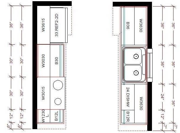 Galley Kitchen Floor Plans Layout