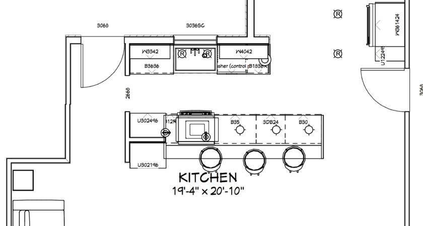 Galley Kitchen Floor Plans