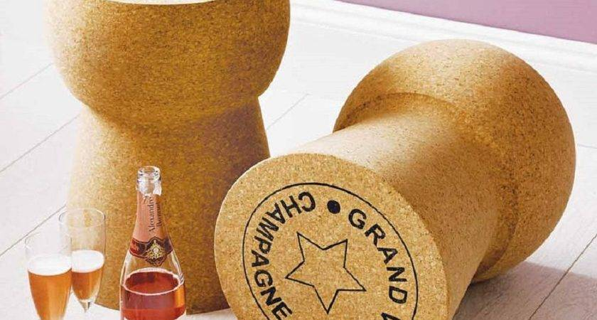 Giant Champagne Cork Stool Table Gadget Flow