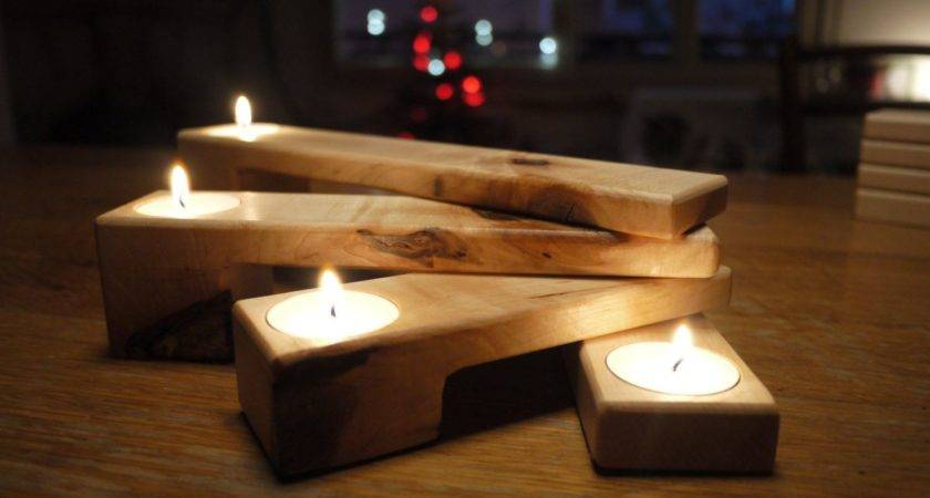 Gift Her Candle Holder Wooden Folding
