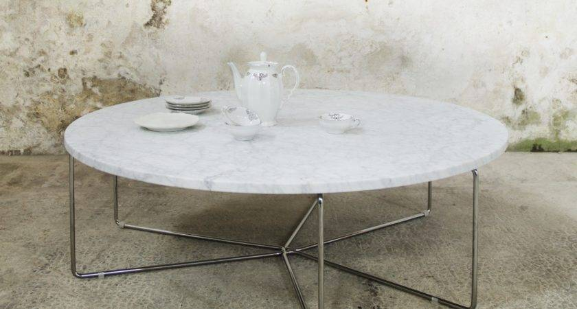 Ginger Contemporary Marble Coffee Table Tables