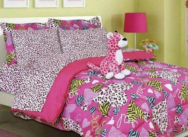 Girls Bed Bag Pink Cheetah Zebra Print Minto