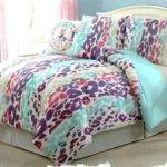 Girls Kids Bedding Ashley Leopard Multi Colored Comforter