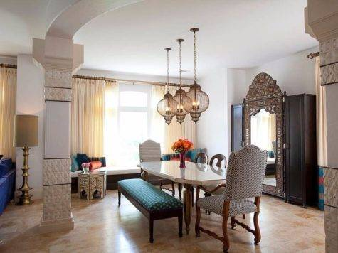 Give Your Dining Room Moroccan Twist