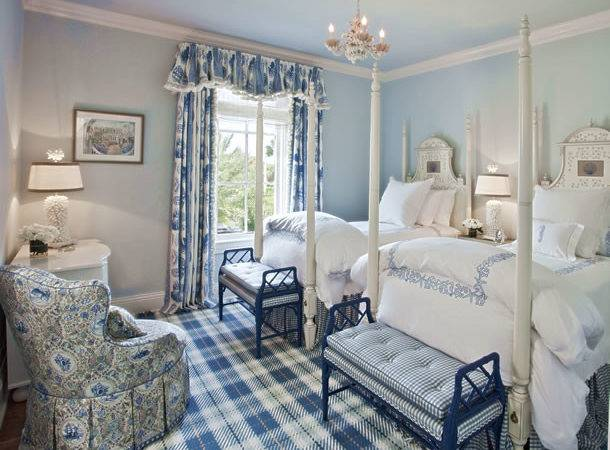 Glam Pad Beautiful Blue White Bedrooms