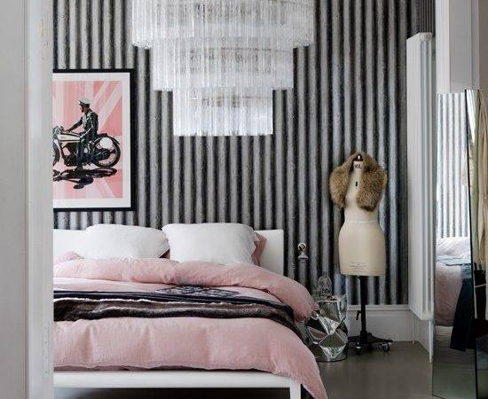 Glamorous Pink Bedroom Corrugated Metal