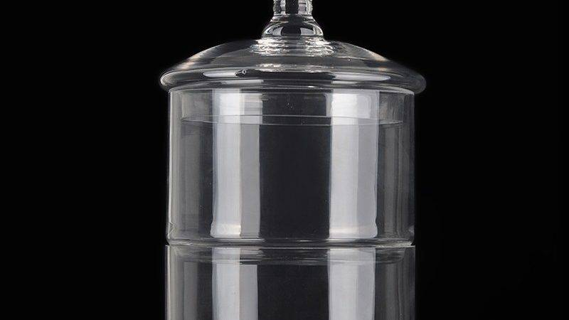 Glass Apothecary Large Jars Stackable Set