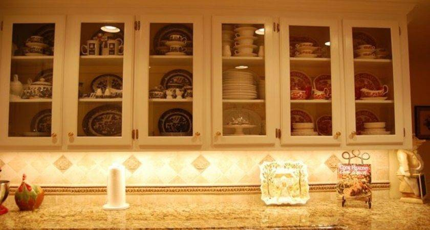 Glass Front Kitchen Cabinets Etched
