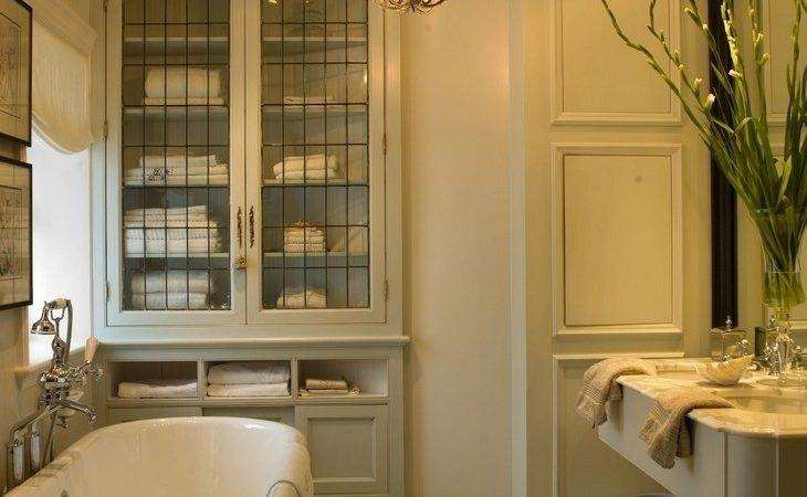 Glass Fronted Bathroom Cabinets