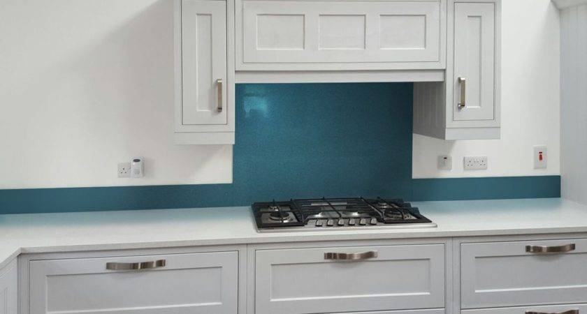 Glass Metallic Painted Kitchen Splashbacks