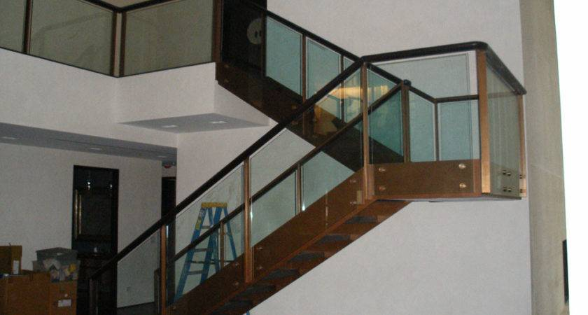 Glass Stair Railing Tinted Stairs