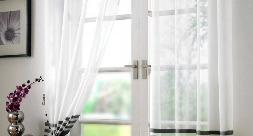 Glorious Black White Curtains Double Swing