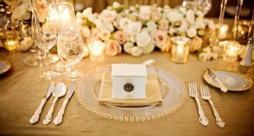 Gold Wedding Table Decorations Ideas