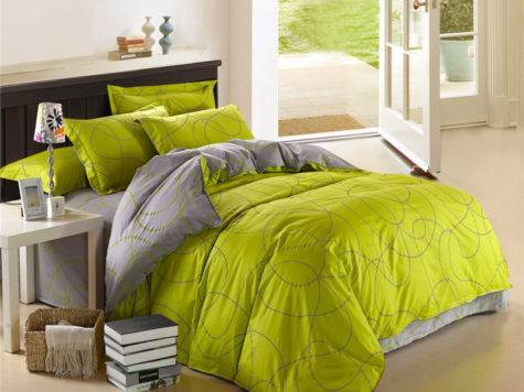 Good Quality Green Color Pure Cotton Bedding Clothes Soft