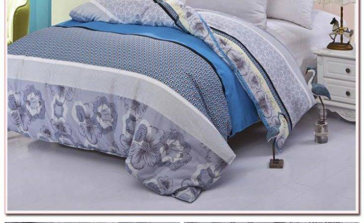 Good Quality New Blue Gray Duvet Cover Queen