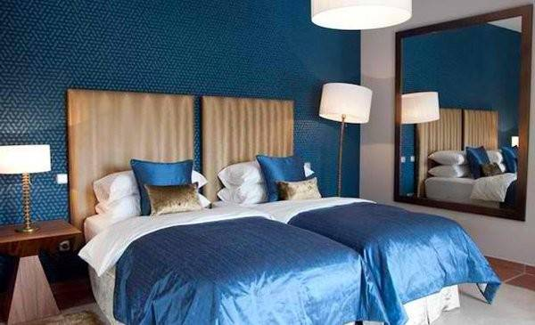 Gorgeous Blue Gold Bedroom Designs Fit