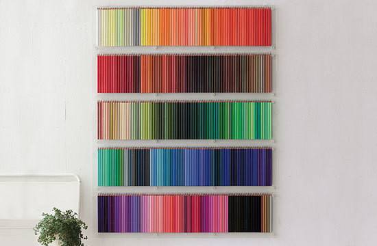 Gorgeous Color Pencil Wall Display Modern Metropolis