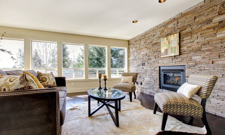Gorgeous Living Rooms Stone Walls Interiorcharm